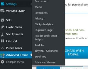 add another website to your website picture menus